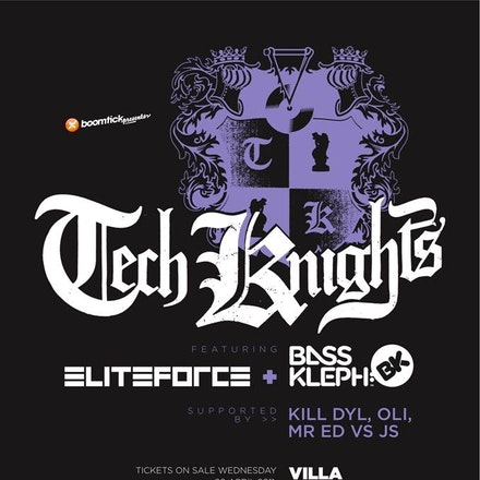 Boomtick pres. Tech Knights feat. Elite Force & Bass Kleph, Villa, 4 June 2011 - Often credited for being a lynchpin in the development of the tech-funk...