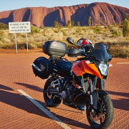 My KTM 990 SMT  at Uluru, Oct 2014 - My KTM 990 SMT*  at Uluru, destination for The Long Ride 2014 