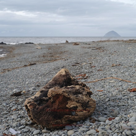 Ailsa Craig from Ballintrae Beach - Ailsa Craig - the geologically and historically interesting volcanic plug in the Firth of Clyde.