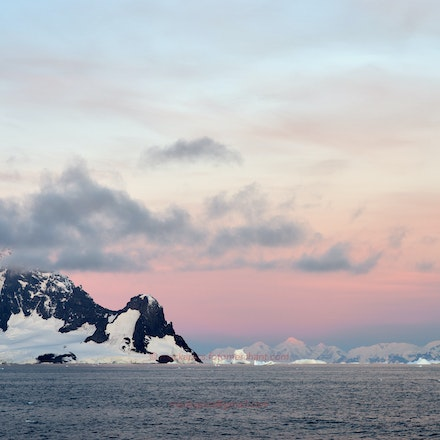 Antarctica - Covering the Antarctic Peninsula, from Latitude 68 deg 17' S, up to the South Shetland Islands and including the Drake Passage.