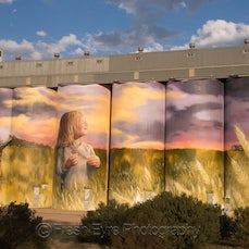 Kimba Silo Art - In 2016 Sue Woolford proposed a gigantic art project for Kimba. Thanks to the belief of the Kimba Community Development Group, some hard...