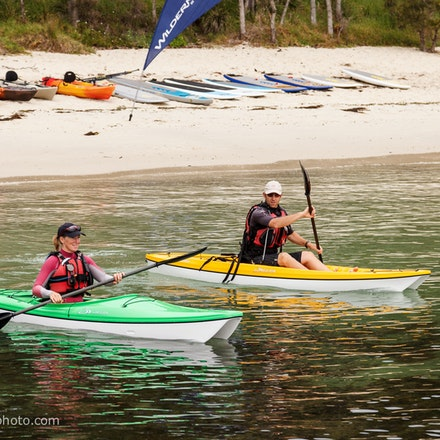 141115_jbk_8790 - Customers testing kayaks and SUP's during the Jervis Bay Kayaks demo day at Huskisson, NSW (Australia) on November 15 2014. Photo: Jan...