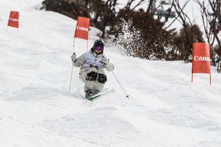 140819_Moguls_6386 - Athlete competing during day 1 of the Canon Australian Freestyle Mogul Championships at Perisher, NSW (Australia) on August 19 2014....