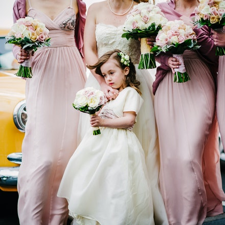 001 | Gorgeous flower girl with bridesmaids before the ceremony - Copyright © 2015 Melissa Fiene Photography. All rights reserved. All images created by...