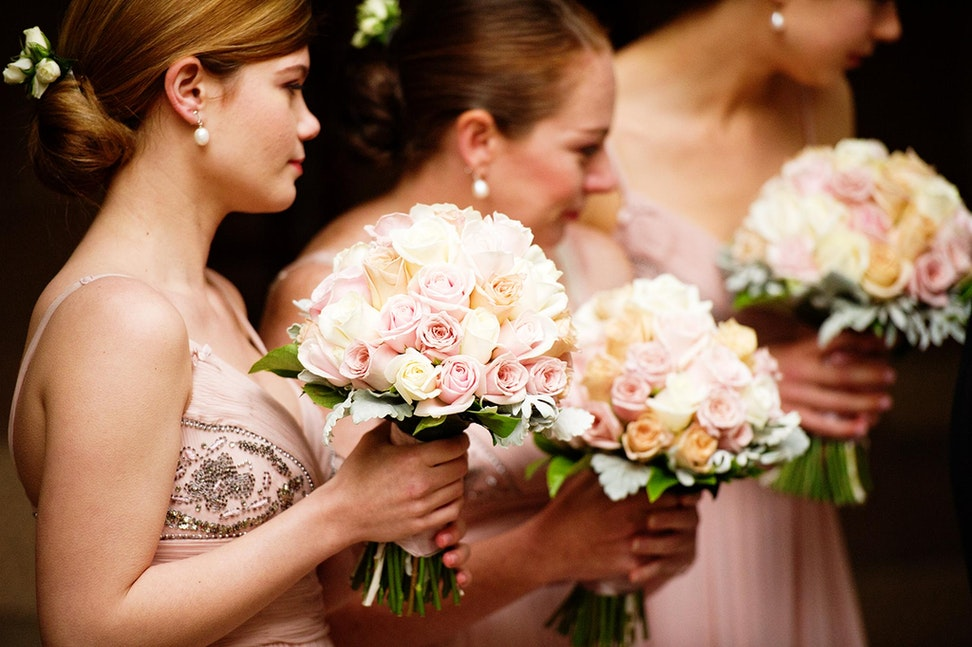 021-1   Bridesmaids looking on during the ceremony - TO VIEW IMAGES IN FULL SCREEN, PLEASE CLICK THE PLAY SLIDESHOW BUTTON ON THE BOTTOM RIGHT  Copyright...