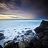 Ghostly Calm - Burleigh Heads, Queensland - On this morning, there was a ghostly calm amongst the round rocks of Burleigh Heads as a storm rolled in from...