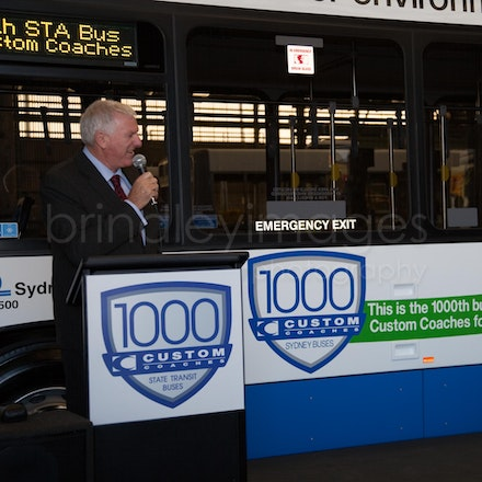 Custom Coaches - Celebrating the 1000th Bus delivery to Sydney Buses