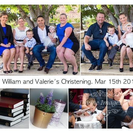 Valerie & William Christening.