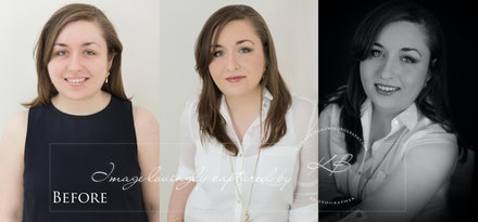 Before-and-after - Before and After from glamour portrait session in our Edens Landing, Logan City studio.