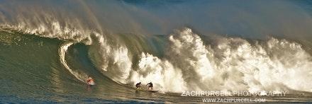 Waimea Big Wave - Location: Waimea Bay Date: January 2011  Time: 8:17 AM  ISO: 200  Shutter Speed: 1/250 sec.  Aperture: 11  Focal Length: 300mm