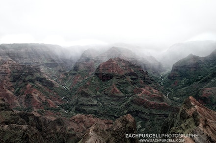 Waimea Canyon Fog - Location: Kauai