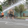 Toongabbie Gas Leak 7-1-2014 - 7th January 2014  Fire & REscue responded to a major gas leak in Reynolds Street Toongabbie today.   A main main was...