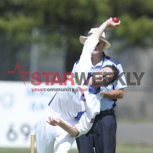 GDCA - cricket - Macedon players in action.