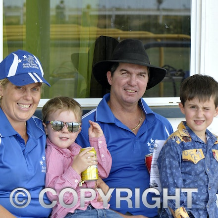 160312_SR29799 - Toni, Toby, Todd and Tommi Austin at the Longreach Races, Saturday March 12, 2016.  sr/Photo by Sam Rutherford