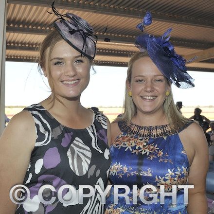 151003_SR22213 - Jess Scott and Sally Magoffin at the Jundah Cup day races, Saturday October 3, 2015.  sr/Photo by Sam Rutherford