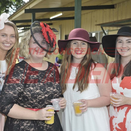 160430_SR25418 - Simone Bourne, Emily Ewing, Paige Hauff and Heather Schonrock at the Tree of Knowledge Cup Race day in Barcaldine, Saturday April 30,...