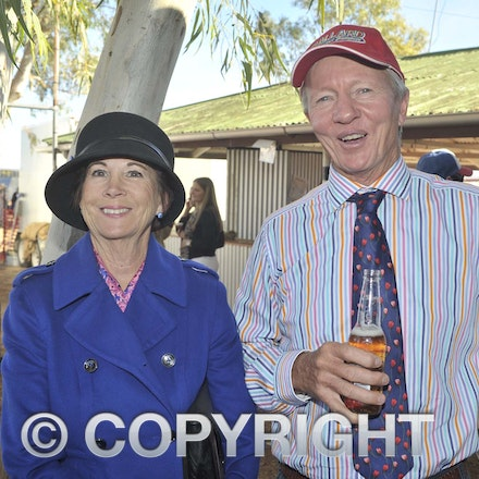 160709_SR22506 - Lenore Johnstone and Sandy Williams at the Ilfracombe Races, Saturday July 9, 2016.  sr/Photo by Sam Rutherford