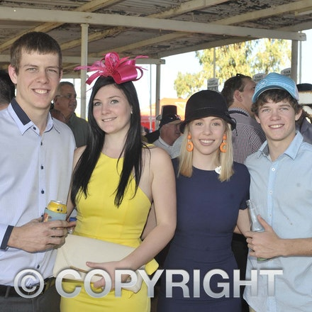 160709_SR22541 - Gary Cutting, Shannen Smith, Lucy Harris and Jason Cutting at the Ilfracombe Races, Saturday July 9, 2016.  sr/Photo by Sam Rutherford