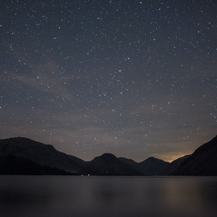 Night sky over Wastwater