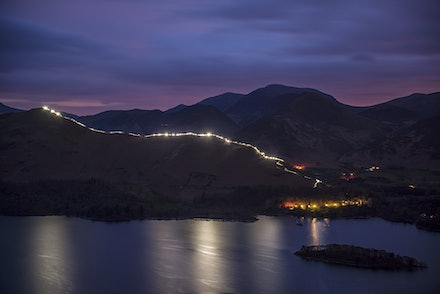 Catbells Festival of Light - Awesome pictures from the Catbells Festival of Light in the Lake District on Sat 23 April 2016 to raise money for Community...