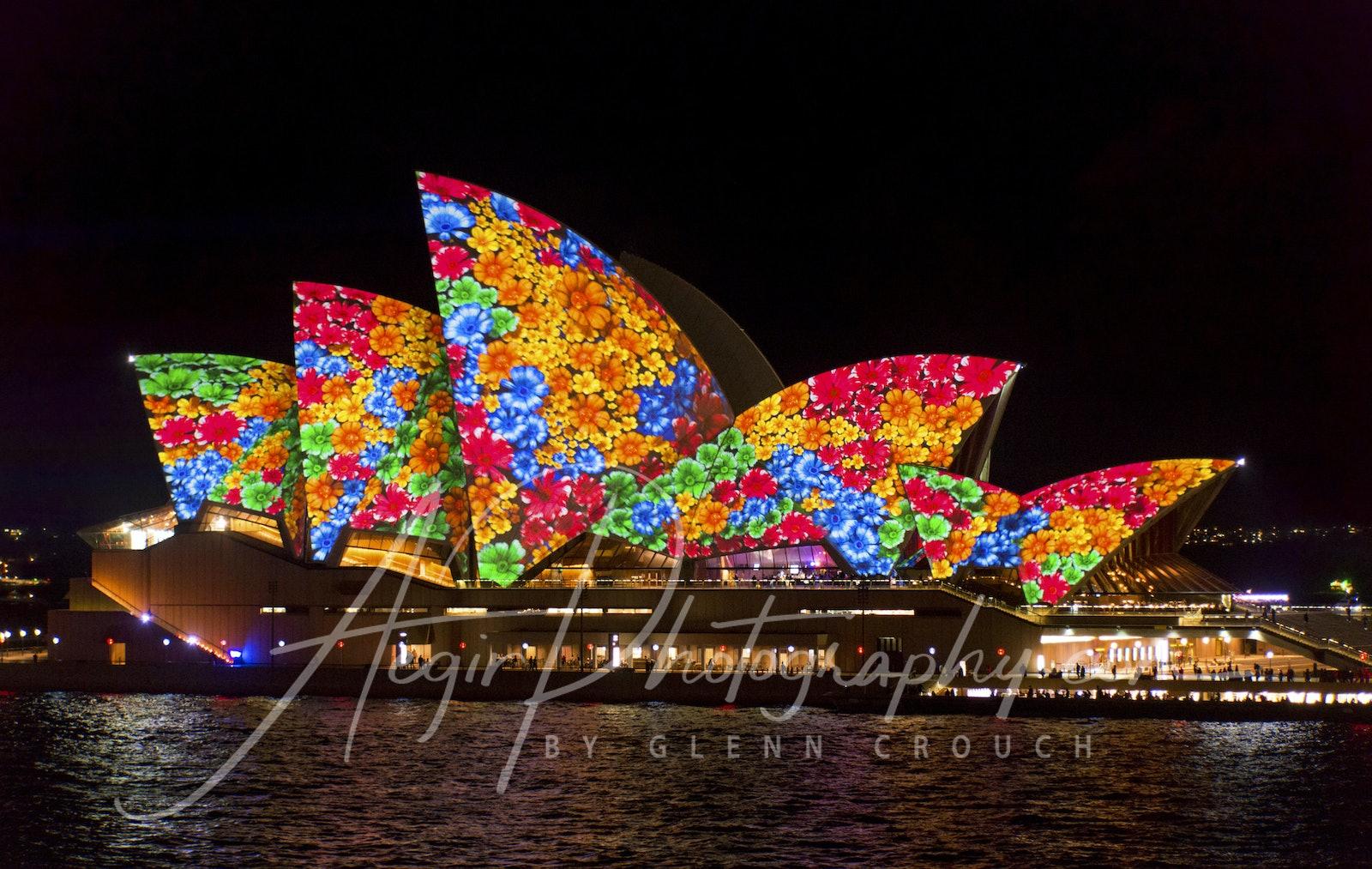 VIVID 2016 - Opera House - Lighting the Sails display during VIVID 2016, Sydney