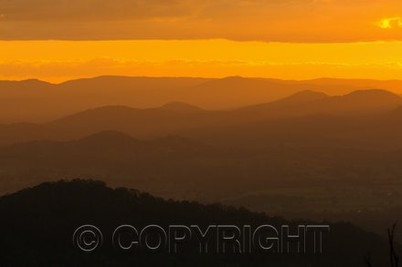 Cooroora sunset - Queensland landscape during a beautiful and warm sunset